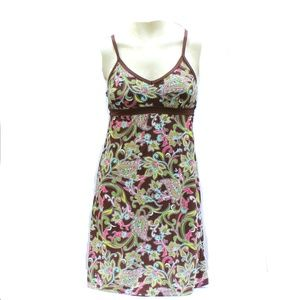 Athleta Racerback Swim Dress Floral Paisley Sz XS